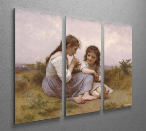 A Childhood Idyll 1900 By Bouguereau 3 Split Panel Canvas Print - Canvas Art Rocks - 2