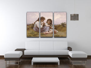 A Childhood Idyll 1900 By Bouguereau 3 Split Panel Canvas Print - Canvas Art Rocks - 3