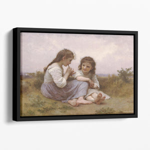 A Childhood Idyll 1900 By Bouguereau Floating Framed Canvas
