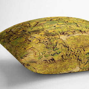 A Field of Yellow Flowers by Van Gogh Throw Pillow