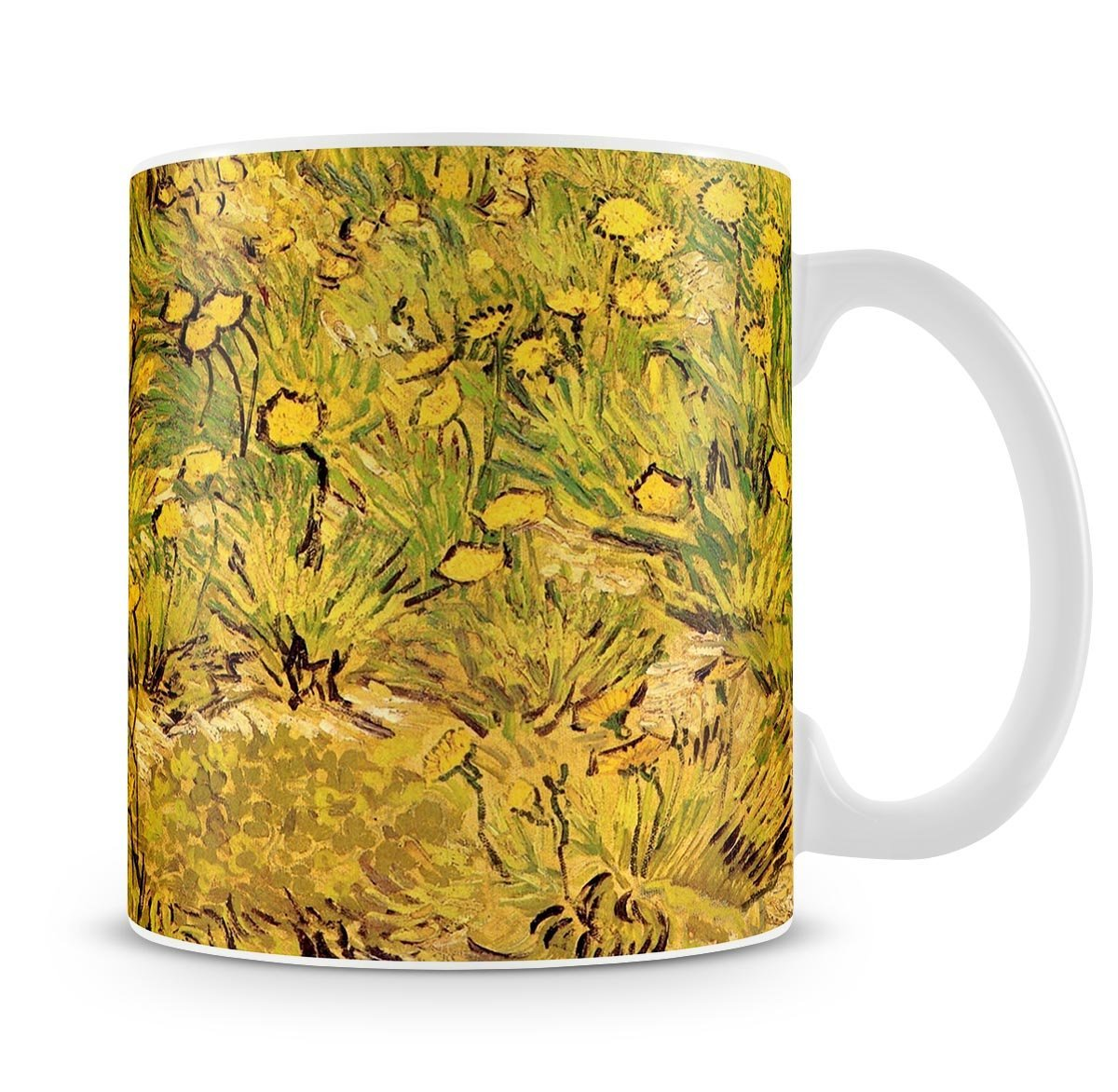 A Field Of Yellow Flowers By Van Gogh Cup Canvas Art Rocks