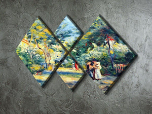 A Garden in Montmartre by Renoir 4 Square Multi Panel Canvas - Canvas Art Rocks - 2
