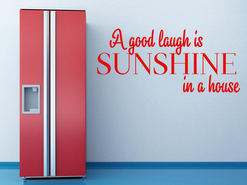 A Good Laugh Wall Decal - Canvas Art Rocks - 1