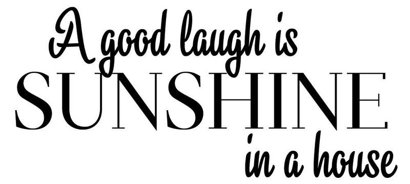 A Good Laugh Wall Decal - Canvas Art Rocks - 2