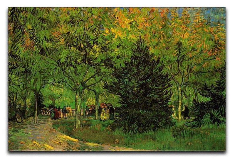 A Lane in the Public Garden at Arles by Van Gogh Canvas Print & Poster  - Canvas Art Rocks - 1