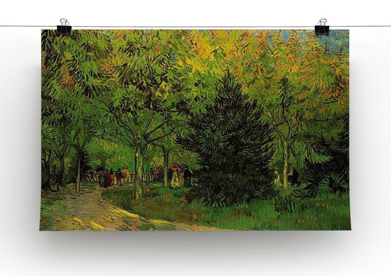 A Lane in the Public Garden at Arles by Van Gogh Canvas Print & Poster - Canvas Art Rocks - 2