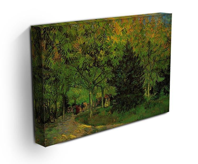 A Lane in the Public Garden at Arles by Van Gogh Canvas Print & Poster - Canvas Art Rocks - 3