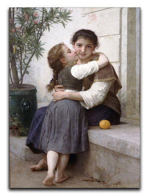 A Little Coaxing 1890 By Bouguereau Canvas Print or Poster  - Canvas Art Rocks - 1