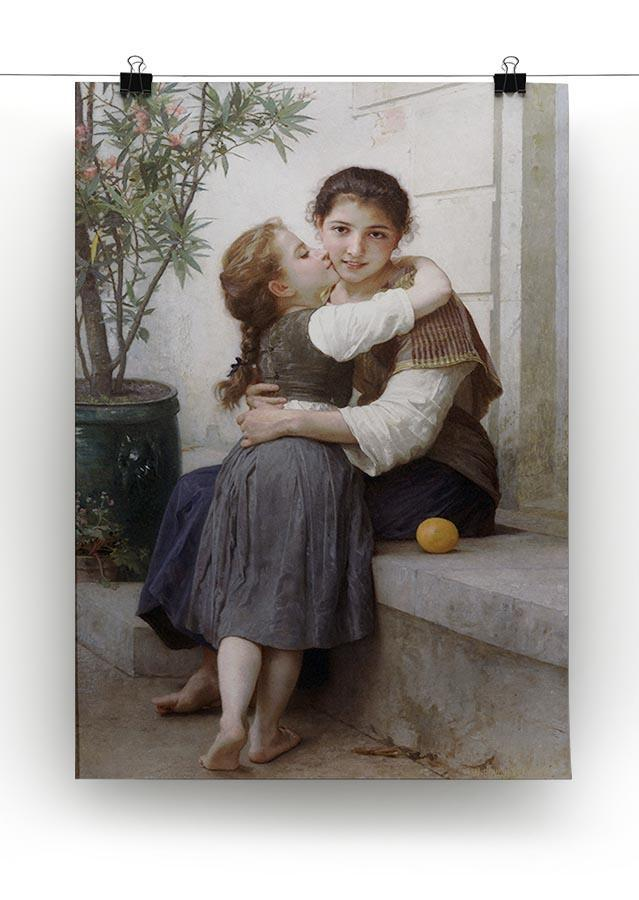 A Little Coaxing 1890 By Bouguereau Canvas Print or Poster - Canvas Art Rocks - 2