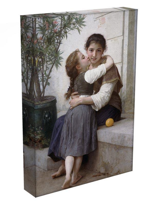 A Little Coaxing 1890 By Bouguereau Canvas Print or Poster - Canvas Art Rocks - 3