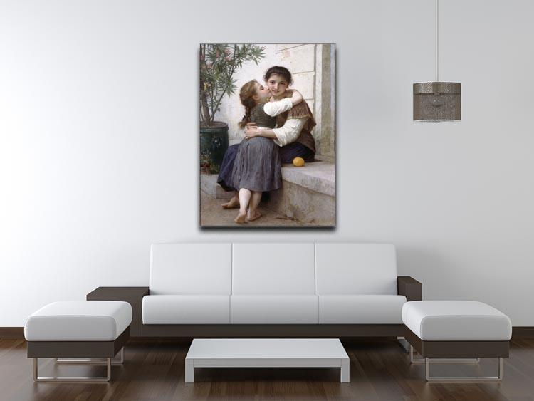 A Little Coaxing 1890 By Bouguereau Canvas Print or Poster - Canvas Art Rocks - 4