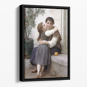 A Little Coaxing 1890 By Bouguereau Floating Framed Canvas