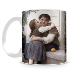 A Little Coaxing 1890 By Bouguereau Mug - Canvas Art Rocks - 2
