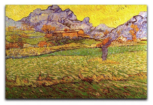 A Meadow in the Mountains Le Mas de Saint-Paul by Van Gogh Canvas Print & Poster  - Canvas Art Rocks - 1