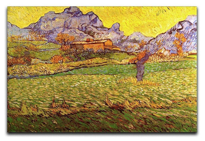 A Meadow in the Mountains Le Mas de Saint-Paul by Van Gogh Canvas Print or Poster