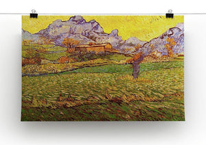 A Meadow in the Mountains Le Mas de Saint-Paul by Van Gogh Canvas Print & Poster - Canvas Art Rocks - 2