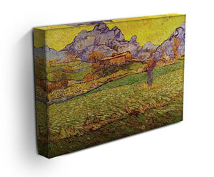 A Meadow in the Mountains Le Mas de Saint-Paul by Van Gogh Canvas Print & Poster - Canvas Art Rocks - 3
