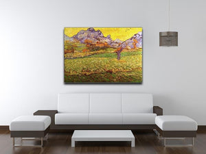 A Meadow in the Mountains Le Mas de Saint-Paul by Van Gogh Canvas Print & Poster - Canvas Art Rocks - 4