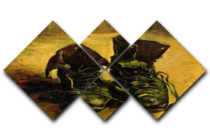 A Pair of Shoes 2 by Van Gogh 4 Square Multi Panel Canvas