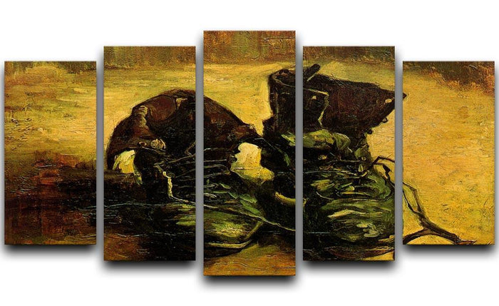 A Pair of Shoes 2 by Van Gogh 5 Split Panel Canvas