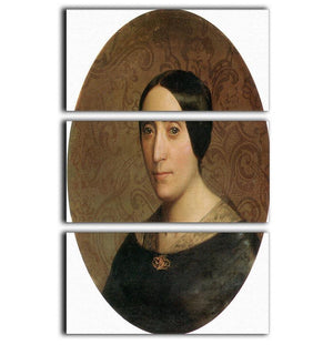 A Portrait of Amelina Dufaud Bouguereau 1850 By Bouguereau 3 Split Panel Canvas Print - Canvas Art Rocks - 1