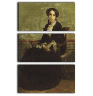 A Portrait of Genevieve Bouguereau 1850 By Bouguereau 3 Split Panel Canvas Print - Canvas Art Rocks - 1