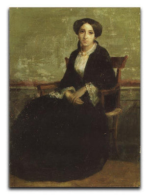 A Portrait of Genevieve Bouguereau 1850 By Bouguereau Canvas Print or Poster  - Canvas Art Rocks - 1