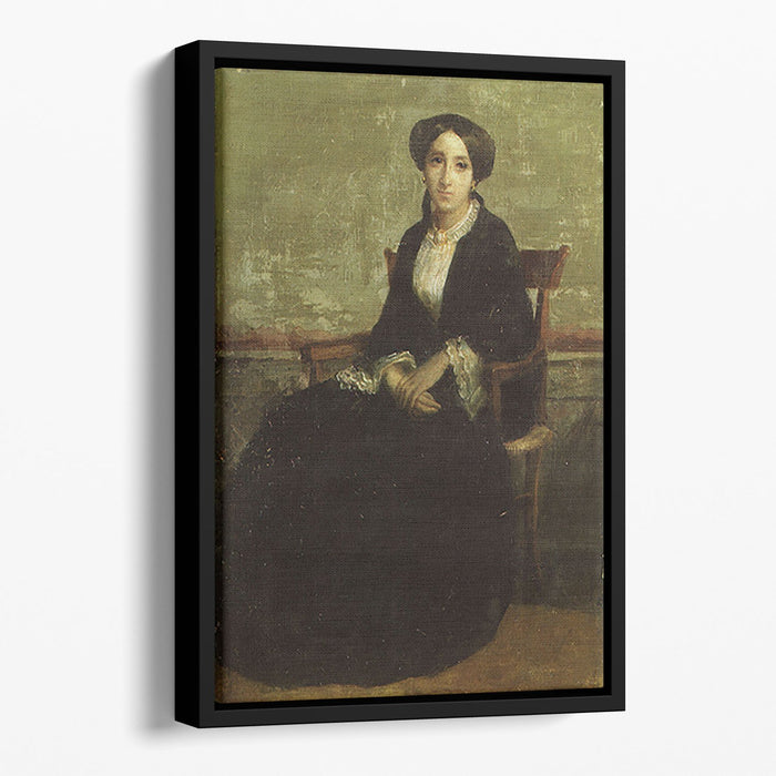 A Portrait of Genevieve Bouguereau 1850 By Bouguereau Floating Framed Canvas