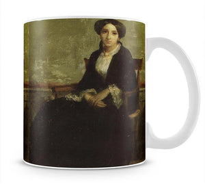 A Portrait of Genevieve Bouguereau 1850 By Bouguereau Mug - Canvas Art Rocks - 1