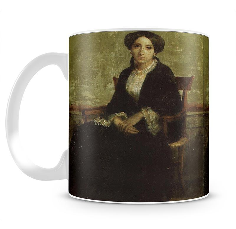 A Portrait of Genevieve Bouguereau 1850 By Bouguereau Mug - Canvas Art Rocks - 2