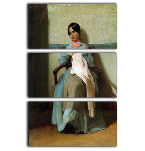 A Portrait of Lonie Bouguereau By Bouguereau 3 Split Panel Canvas Print - Canvas Art Rocks - 1