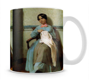 A Portrait of Lonie Bouguereau By Bouguereau Mug - Canvas Art Rocks - 1