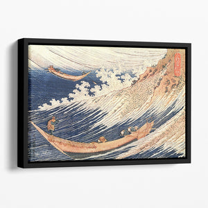 A Wild Sea at Choshi by Hokusai Floating Framed Canvas
