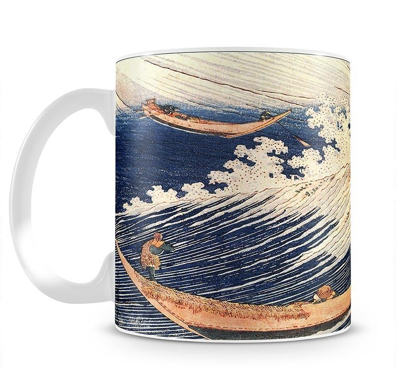 A Wild Sea at Choshi by Hokusai Cup - Canvas Art Rocks - 2