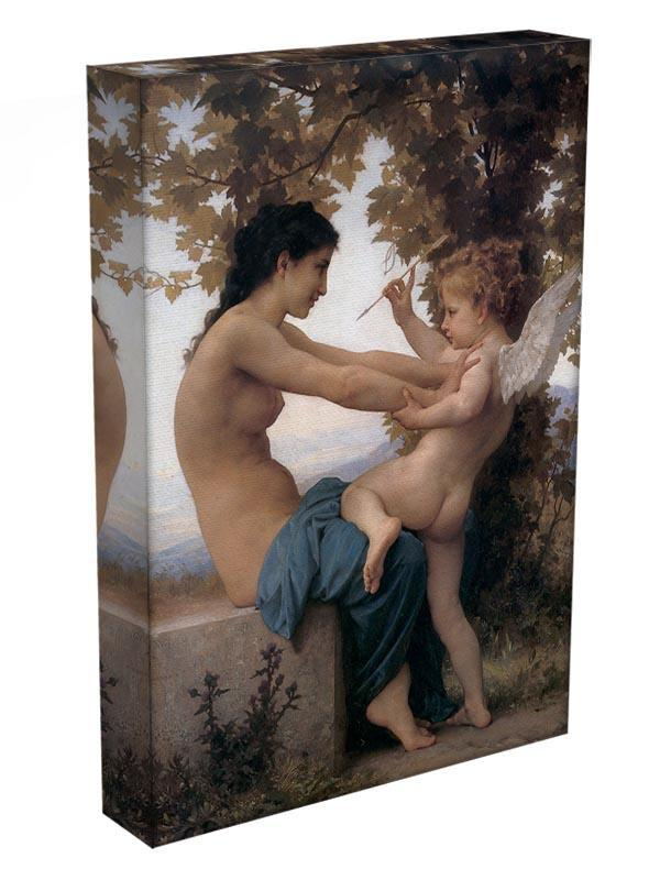 A Young Girl Defending Herself Against Eros By Bouguereau Canvas Print or Poster - Canvas Art Rocks - 3
