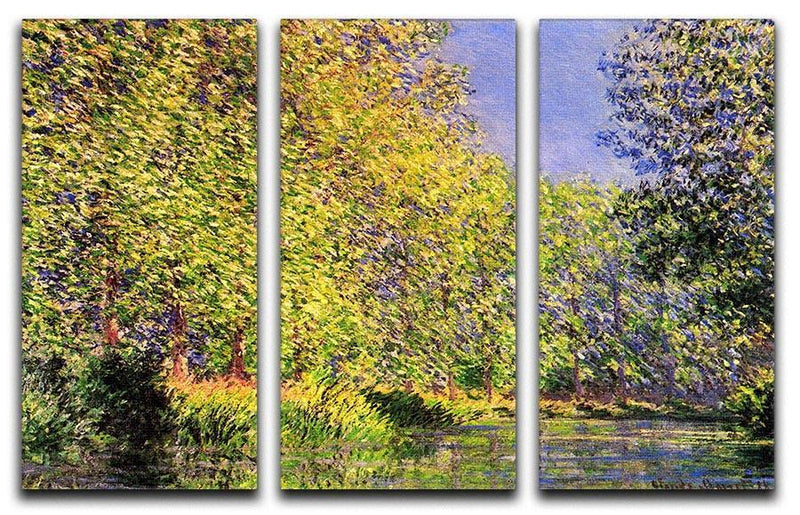 A bend of the Epte Giverny by Monet Split Panel Canvas Print - Canvas Art Rocks - 4