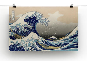A big wave off Kanagawa by Hokusai Canvas Print or Poster - Canvas Art Rocks - 2