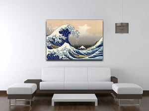 A big wave off Kanagawa by Hokusai Canvas Print or Poster - Canvas Art Rocks - 4