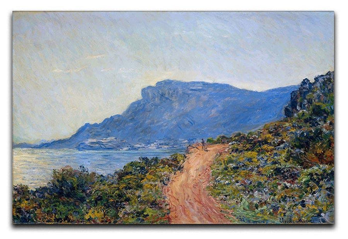A coastal view with a bay by Monet Canvas Print or Poster