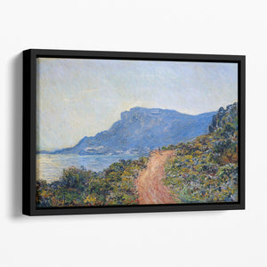 A coastal view with a bay by Monet Floating Framed Canvas