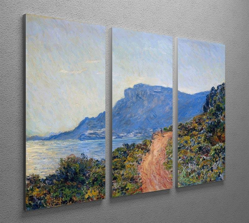 A coastal view with a bay by Monet Split Panel Canvas Print - Canvas Art Rocks - 4