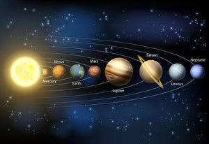 A diagram of the planets Wall Mural Wallpaper - Canvas Art Rocks - 1