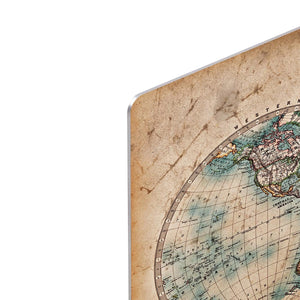 A genuine old stained World map HD Metal Print