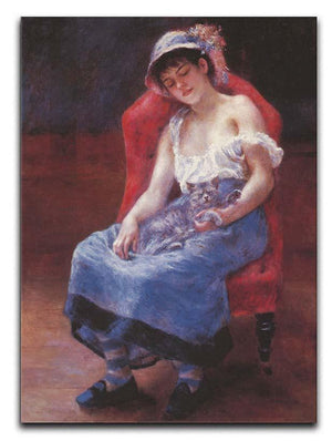 A girl asleep by Renoir Canvas Print or Poster  - Canvas Art Rocks - 1