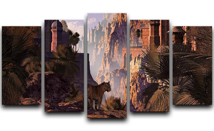A landscape in India 5 Split Panel Canvas