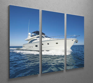 A luxury private motor yacht 3 Split Panel Canvas Print - Canvas Art Rocks - 2