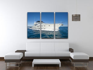 A luxury private motor yacht 3 Split Panel Canvas Print - Canvas Art Rocks - 3