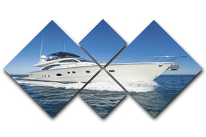 A luxury private motor yacht 4 Square Multi Panel Canvas  - Canvas Art Rocks - 1