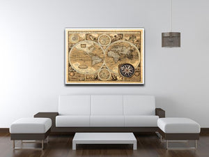 A new and accvrat map of the world Canvas Print or Poster - Canvas Art Rocks - 4