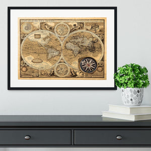A new and accvrat map of the world Framed Print - Canvas Art Rocks - 1